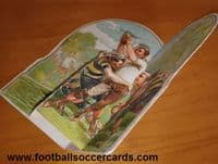 1900 Au Bon Marché rugby folding card, a classic! Intact and excellent